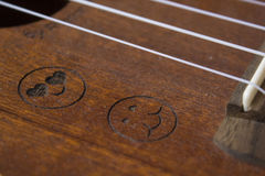 Ukulele. A detail photo of an ukulele Stock Images
