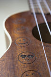 Ukulele. A detail photo of an ukulele Royalty Free Stock Image