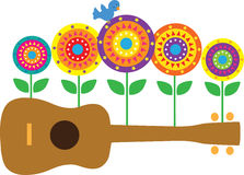 Ukulele Flowers Stock Image