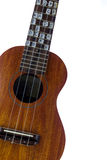 Ukulele. Fretboard, part of  hawaiian guitar Royalty Free Stock Image