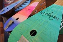 Ukulele gitary w Rarotonga Kucbarskich wyspach Fotografia Royalty Free