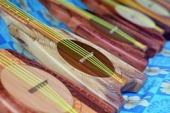 Ukulele gitary w Rarotonga Kucbarskich wyspach Zdjęcie Royalty Free