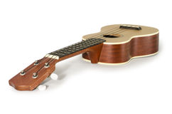 Ukulele guitar isolated on white Clipping path included : does not include shadow. Stock Photography