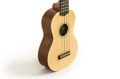 Ukulele guitar isolated on white Clipping path included : does not include shadow. Royalty Free Stock Photography