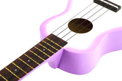 Ukulele guitar on white Royalty Free Stock Photo