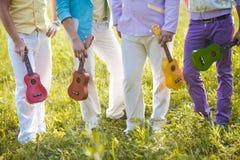 ukulele hawaiian полосы Стоковая Фотография