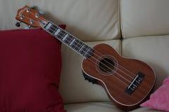 Ukulele Hawajski ukulele - Frontowy widok Obraz Royalty Free
