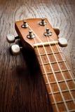 Ukulele. Headstock of Ukulele Hawaiian Guitar Stock Image