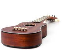 Ukulele on isolate background. Brown ukulele on isolate background Royalty Free Stock Photos