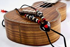 Ukulele love strap Royalty Free Stock Photos