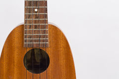 Ukulele music instrument on the white background Stock Photos
