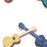 Ukulele with note fill Royalty Free Stock Images
