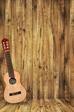 Ukulele On Wood Background Royalty Free Stock Photography