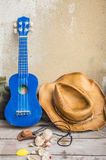 Ukulele and other devices Stock Photography