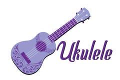 Ukulele purple vector illustration