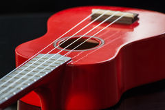 Ukulele rosse del soprano Immagine Stock Libera da Diritti