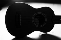 Ukulele with Shadows in B&W Stock Photography