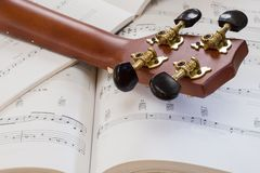 Ukulele and Sheet Music Royalty Free Stock Photo