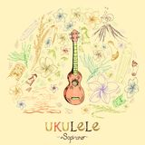 Ukulele soprano royalty free illustration