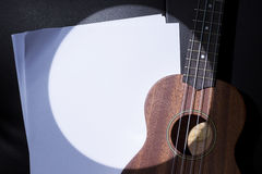 Ukulele in Sport Light. Stock Photography