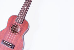 Ukulele. A ukulele on white background Stock Photos