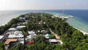 Ukulhas-Insel, Malediven stock footage