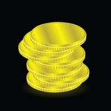 ukuwać nazwę dolarowego euro złoto Obrazy Stock