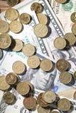 ukuwać nazwę dolary zdjęcia stock