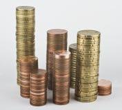 ukuwać nazwę euro sterty obrazy stock