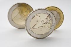 ukuwać nazwę euro trzy zdjęcia stock