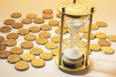 ukuwać nazwę hourglass obraz stock