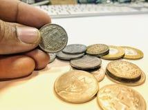 ukuwać nazwę walutę Obraz Royalty Free