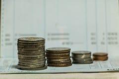 Ukuwa nazwę na Savings depozytu Passbook Zdjęcie Stock