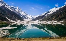 UL Malook, Pakistan di Saif del lago fotografie stock libere da diritti