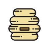 Ul, pszczoła roju mieszkania stylu cienka kreskowa ikona Zdjęcia Royalty Free