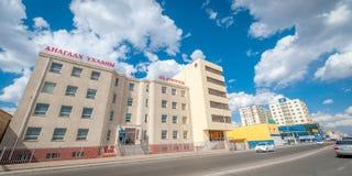 Ulaan-Baator Streetview van Ulan Bator in de de zomertijd royalty-vrije stock fotografie