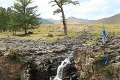 Ulaan Gol Waterfall Royalty Free Stock Photos