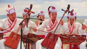 ULAANBAATAR,蒙古- 2013年7月:蒙古音乐表现 影视素材