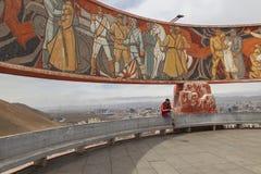 Ulaanbaatar,蒙古-, 2016年4月:Zaisan Tolgoi -苏维埃 库存图片