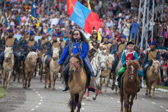 ULAANBAATAR, фестиваль МОНГОЛИИ Naadam Стоковые Фото