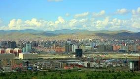 Ulaanbaatar cityscape, Mongolia. Ulaanbaatar cityscape fading into Mongolia's landscape stock video