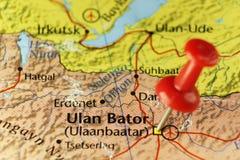 Ulaanbaatar of de hoofdstad van Ulan Bator van Mongolië Royalty-vrije Stock Afbeelding