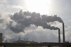 Ulaanbaatar, manganèse 1er décembre 2015 : Chauffage électrique central dans Ulaanbaatar Photographie stock