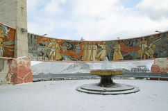 Ulaanbaatar, MN - Dec, 02 2015: Pamięć powikłany Zaisan na tuffet Ulaanbaatar Mongolia Obrazy Royalty Free