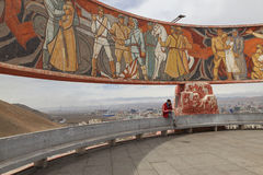 Ulaanbaatar, Mongólia - POSSA, em abril de 2016: Zaisan Tolgoi - soviete Imagem de Stock