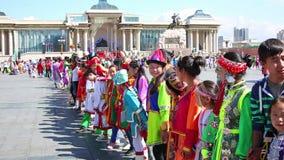 ULAANBAATAR, MONGOLIA - JULY 2013: Naadam Festival Celebration Royalty Free Stock Photo