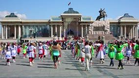 ULAANBAATAR, MONGOLIA - JULY 2013: Naadam Festival Celebration Royalty Free Stock Photos