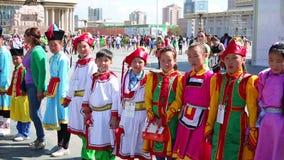 ULAANBAATAR, MONGOLIA - JULY 2013: Naadam Festival Celebration Stock Photo