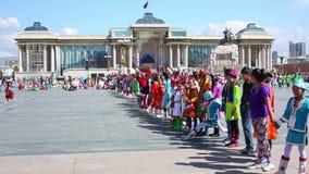 ULAANBAATAR, MONGOLIA - JULY 2013: Naadam Festival Celebration Stock Images