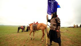 ULAANBAATAR, MONGOLIA - JULY 2013: Naadam Festival Horse Archery Crew Royalty Free Stock Images